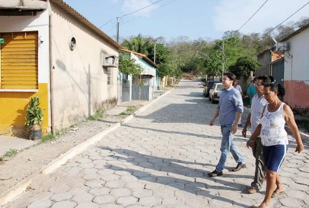Alamedas foram pavimentadas com recursos próprios da Prefeitura (Foto: Marcos Boaventura)