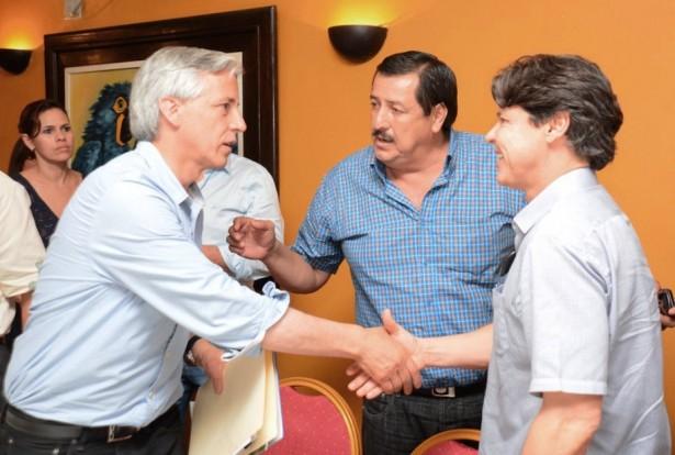 Utilização da rota bioceânica foi debatida durante encontro de Duarte com vice-presidente boliviano (Foto: Renê Marcio Carneiro)