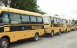 A vistoria dos veículos de transporte escolar correspondente ao segundo semestre do ano letivo de 2014 aconteceu no pátio do Detran em Ladário