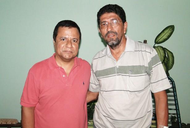 Deputado Amarildo Cruz e o secretário Roberto Guimarães (Foto: Domingos/Pérola News)