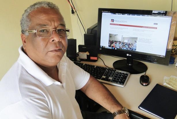 O presidente do SINTEL, Antônio Celso Mello dos Santos (Foto: Domingos/Pérola News)