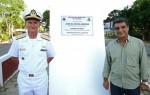 Contra-almirante Edervaldo e o prefeito José Antonio