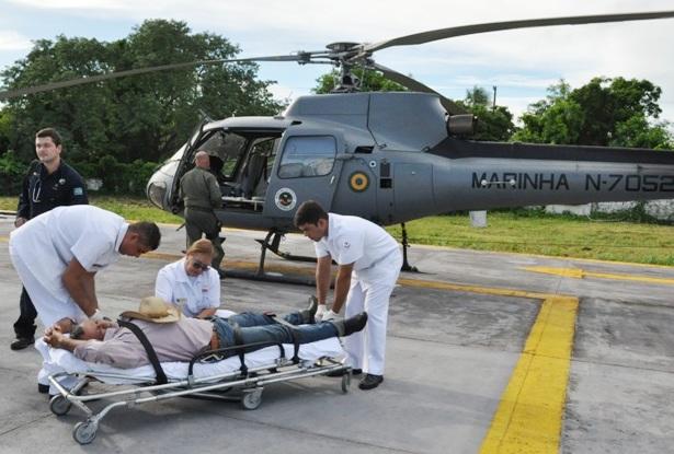 Marinha resgata homem com princípio de infarto na região do Paiaguás